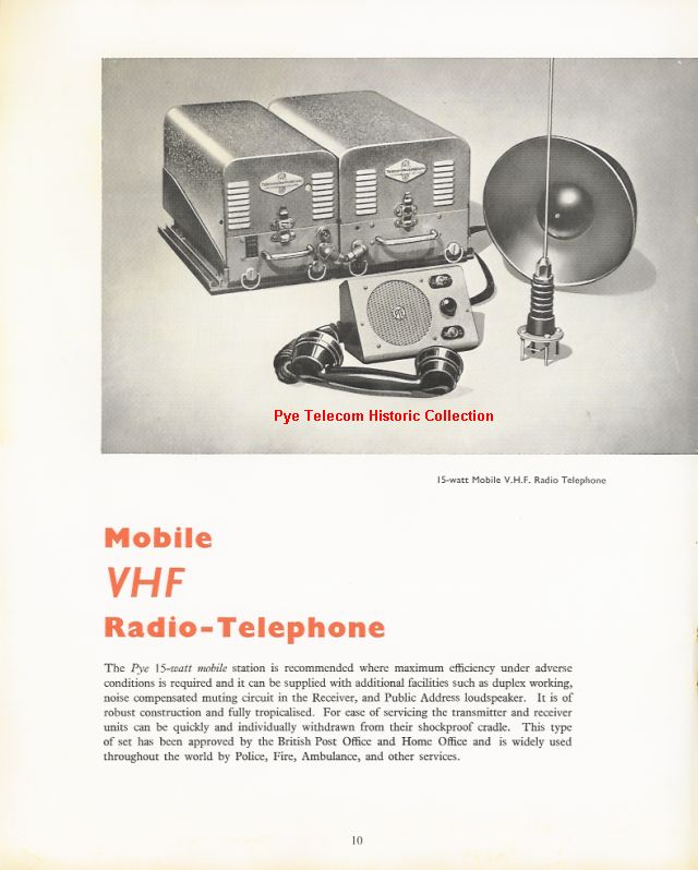 Pye Telecom Product History: Standard Products - PMR Mobiles